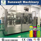 Rotary Multi-Head Hot Filling Machine , Tea And Juice Filling Line