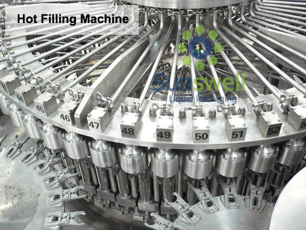 Automatic PLC Hot Filling Machine , Bottle Fruit Juice Processing Line