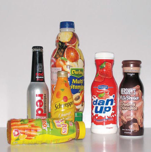 Heat Sensitive PVC / PET / PLA / OPS film Shrink Label for FOOD & Beverage