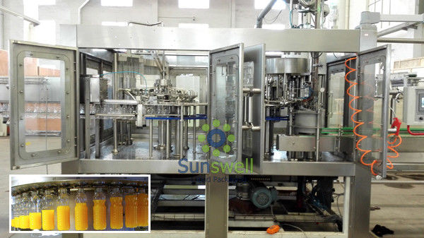Fruit Juice Crush Water Treatment Line , Juice Bottling Equipment